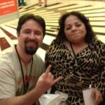 Triberr's Dino Dogan at New Media Expo with Nathasha Alvarez