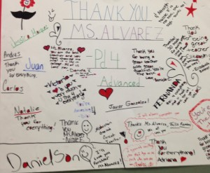 Students appreciate Nathasha Alvarez